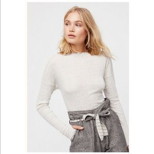 Free People Grey Look Out Layering Top.